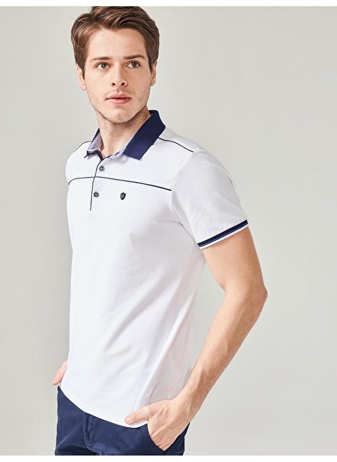 MCL Polo Yaka Tişört Beyaz